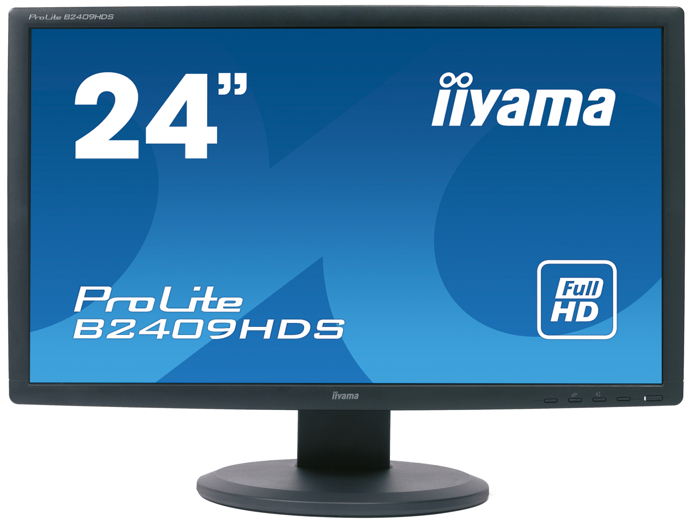 "90 gaming monitor 24"" tft display iiyama prolite b2409hds 2ms."