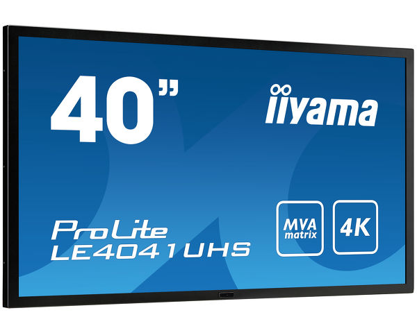 ProLite LE4041UHS-B1 - 40'' 4K monitor with high contrast, MVA panel and robust metal bezel