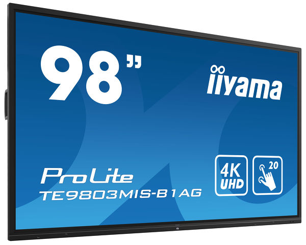 ProLite TE9803MIS-B1AG - 98'' Interactive 4K UHD LCD Touchscreen with integrated annotation software