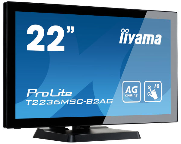 "ProLite T2236MSC-B2AG - 22"" 10 point touch monitor with edge-to-edge glass and Anti Glare coating"