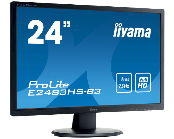 ProLite E2483HS-B3 - A Full HD LED monitor with 1 ms response time