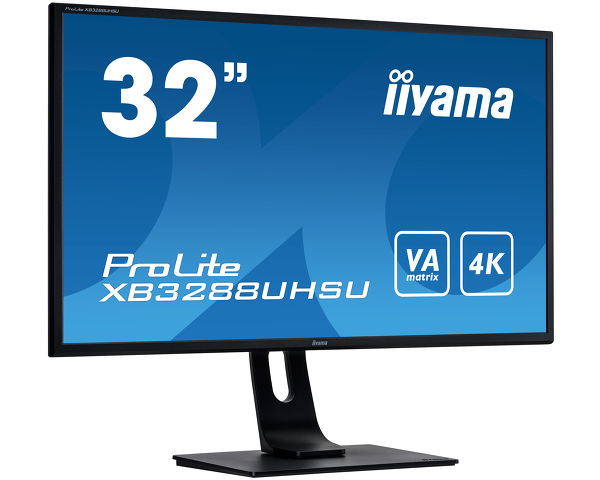 ProLite XB3288UHSU-B1 - 32'' VA panel with 4K resolution
