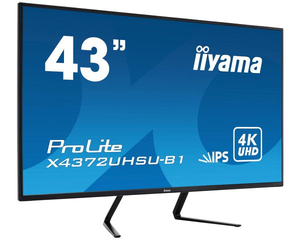 "ProLite X4372UHSU-B1 - 43"" panel with 4K resolution offering you the power of four displays packed into one"