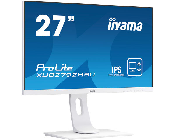"ProLite XUB2792HSU-W1 - 27"" IPS  panel technology monitor with ultra flat front and a height adjustable stand"