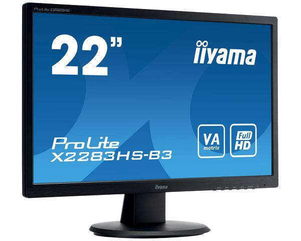 ProLite X2283HS-B3 - A Full HD LED monitor with VA panel