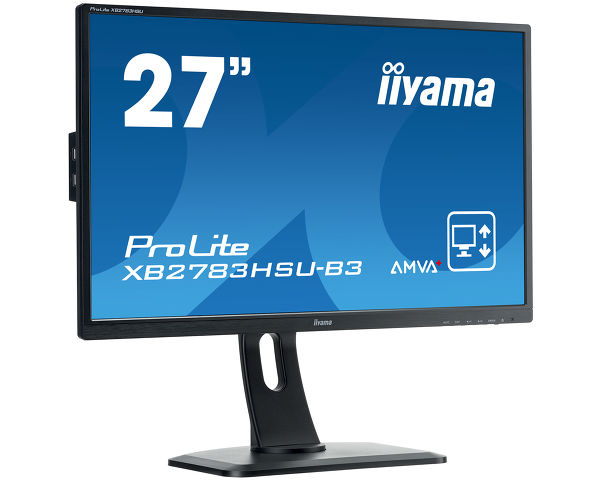 "ProLite XB2783HSU-B3 - High-end 27"" AMVA+ monitor featuring height adjustable stand"