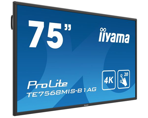 ProLite TE7568MIS-B1AG  - 75'' interactive 4K UHD LCD Touchscreen with integrated annotation software