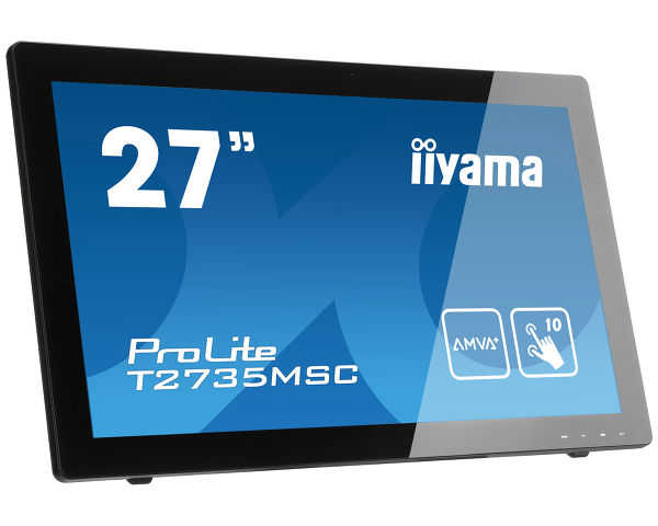 "ProLite T2735MSC-B2 - 27"" 10 point multi-touch monitor with Edge to Edge glass and webcam"