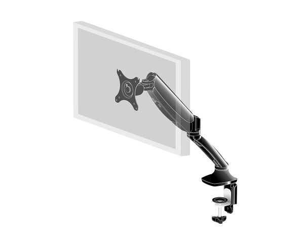 DS3001C-B1 - Sleek and stylish single gas spring monitor arm