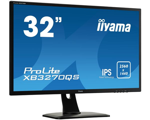 "ProLite XB3270QS-B1 - A height adjustable 32"" IPS Panel Technology monitor featuring WQHD resolution"