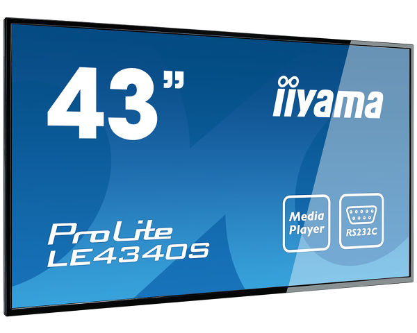 "ProLite LE4340S-B1 - ProLite LE4340S - a 43"" Full HD professional large format display with USB media playback"
