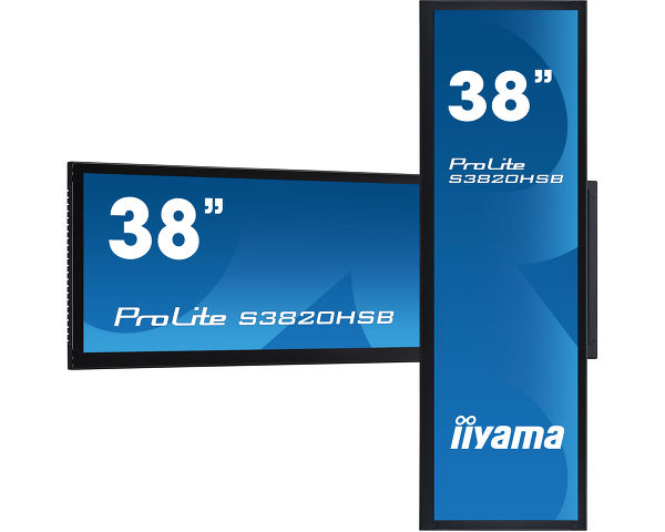 "ProLite S3820HSB-B1 - 38"" stretched digital signage display with 24/7 operating time, 1000cd/m² and landscape and portrait orientation"