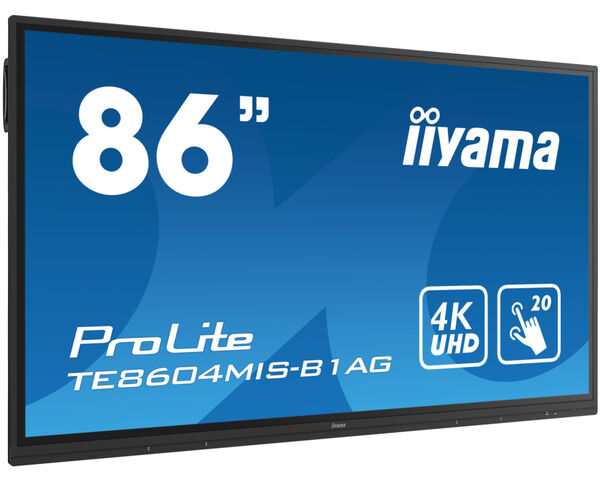 ProLite TE8604MIS-B1AG - 86'' Interactive  4K UHD LCD Touchscreen with integrated annotation software