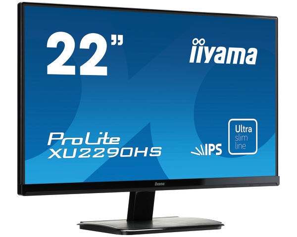 "ProLite XU2290HS-B1 - 22"" monitor z matryca IPS i ultracienką ramką"