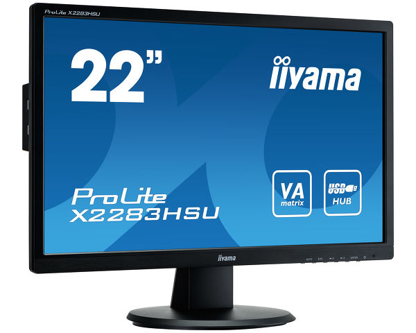 ProLite X2283HSU-B1DP - Full HD LED monitor met VA panel en USB hub