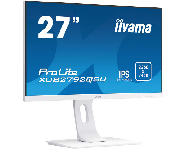 ProLite XUB2792QSU-W1 - Tecnología de panel IPS de 27 '', monitor Edge-to-Edge con resolución WQHD