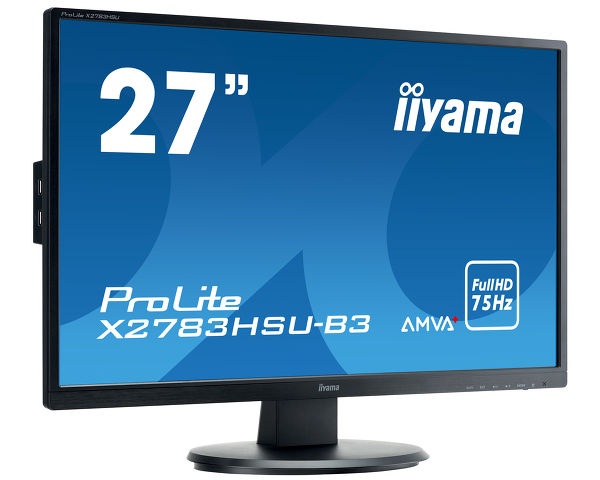 "ProLite X2783HSU-B3 - A high-end 27"" monitor featuring AMVA+ Panel technology"