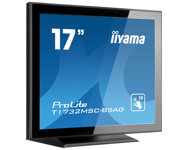 "ProLite T1732MSC-B5AG - 17"" Projected Capacitive 10pt Touchscreen mit AntiGlare Beschichtung"