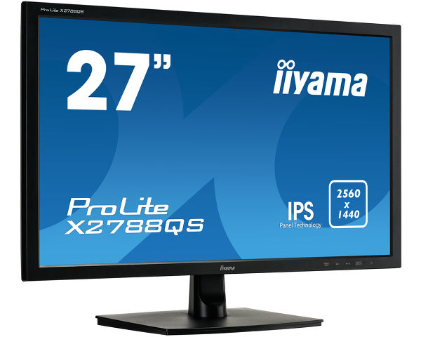 ProLite X2788QS-B1 - 27'' WQHD monitor that answers your need for extra workspace