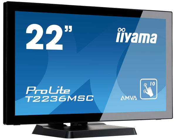 "ProLite T2236MSC-B2 - 22"" 10P-touchmonitor met volledig vlak edge-to-edge front en AMVA panel"