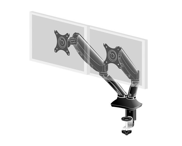 DS3002C-B1 - Sleek and stylish dual gas spring monitor arm