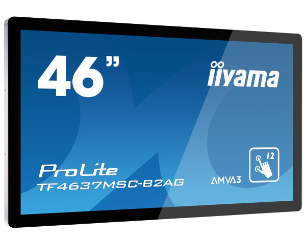"ProLite TF4637MSC-B2AG - 46"" 12pt open frame PCAP touch monitor built into an eye catching bezel with edge-to-edge glass"