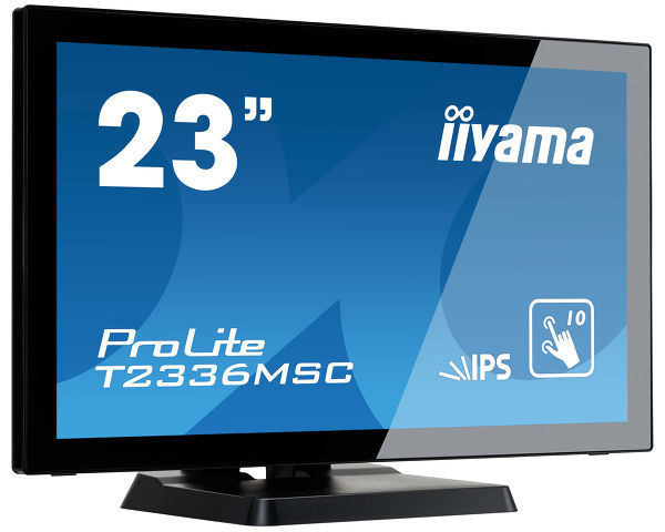 "ProLite T2336MSC-B2 - 23"" 10P-touchmonitor met volledig vlak edge-to-edge front en IPS panel"