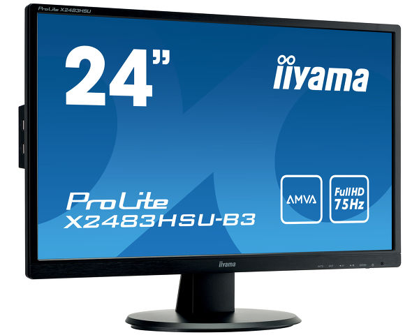 "ProLite X2483HSU-B3 - A high-end 24"" monitor featuring AMVA Panel technology"