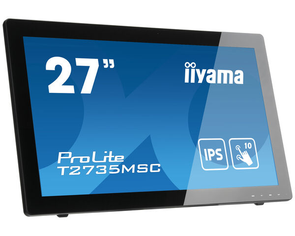 "ProLite T2735MSC-B3 - 27"" 10 point multi-touch monitor with Edge to Edge glass and webcam"