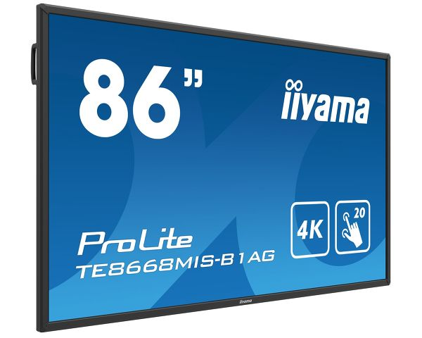 ProLite TE8668MIS-B1AG - 86'' Interactive 4K LCD Touchscreen with integrated annotation software