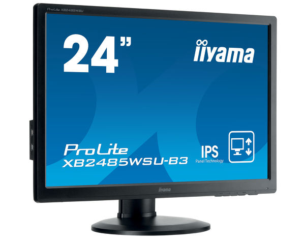 "ProLite XB2485WSU-B3 - 24"" LED backlit LCD Screen featuring IPS technology"