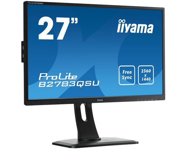 "ProLite B2783QSU-B1 - High-end 27"" WQHD monitor supporting FreeSync™ technology and 1ms response time"