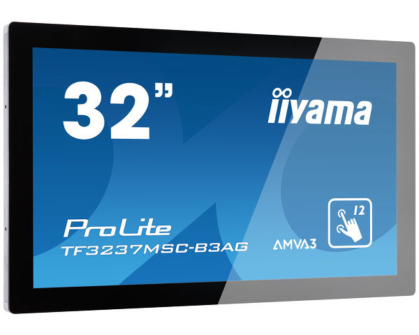 "ProLite TF3237MSC-B3AG - 32"" 12pt open frame touch monitor built into an eye catching bezel with edge-to-edge glass"