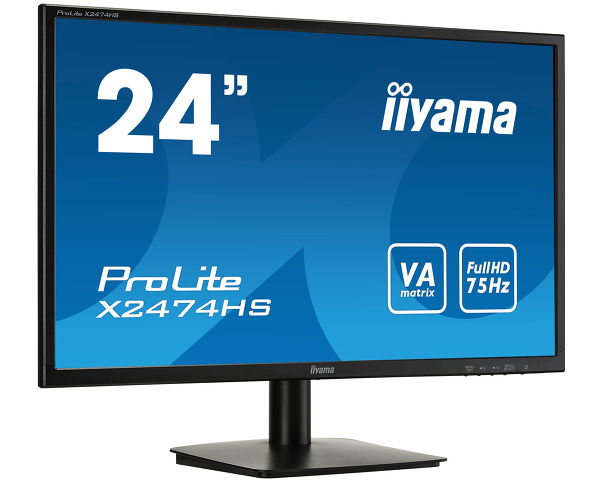 "ProLite X2474HS-B1 - 24"" (60 cm) Display mit VA Panel"