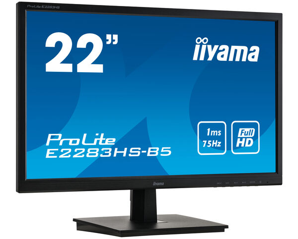 ProLite E2283HS-B5 - Full HD LED monitor s dobou odezvy 1ms