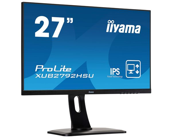 "ProLite XUB2792HSU-B1 - 27"" IPS  panel technology with ultra flat front and height adjustable stand"