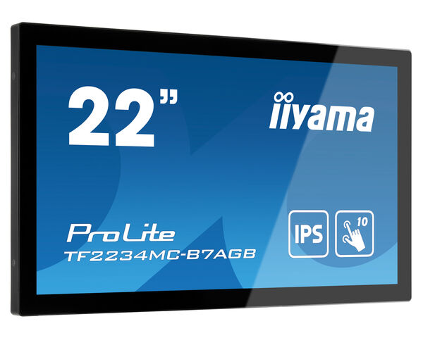 ProLite TF2234MC-B7AGB - 10pt touch open frame Touch monitor met IPS paneel, Anti-Glare Glas en hoge helderheid
