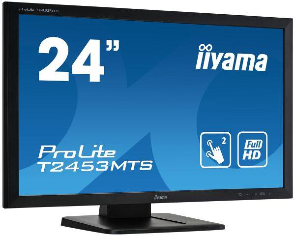 "ProLite T2453MTS-B1 - 23.6"" dual touch screen, based on Optical touch technology"