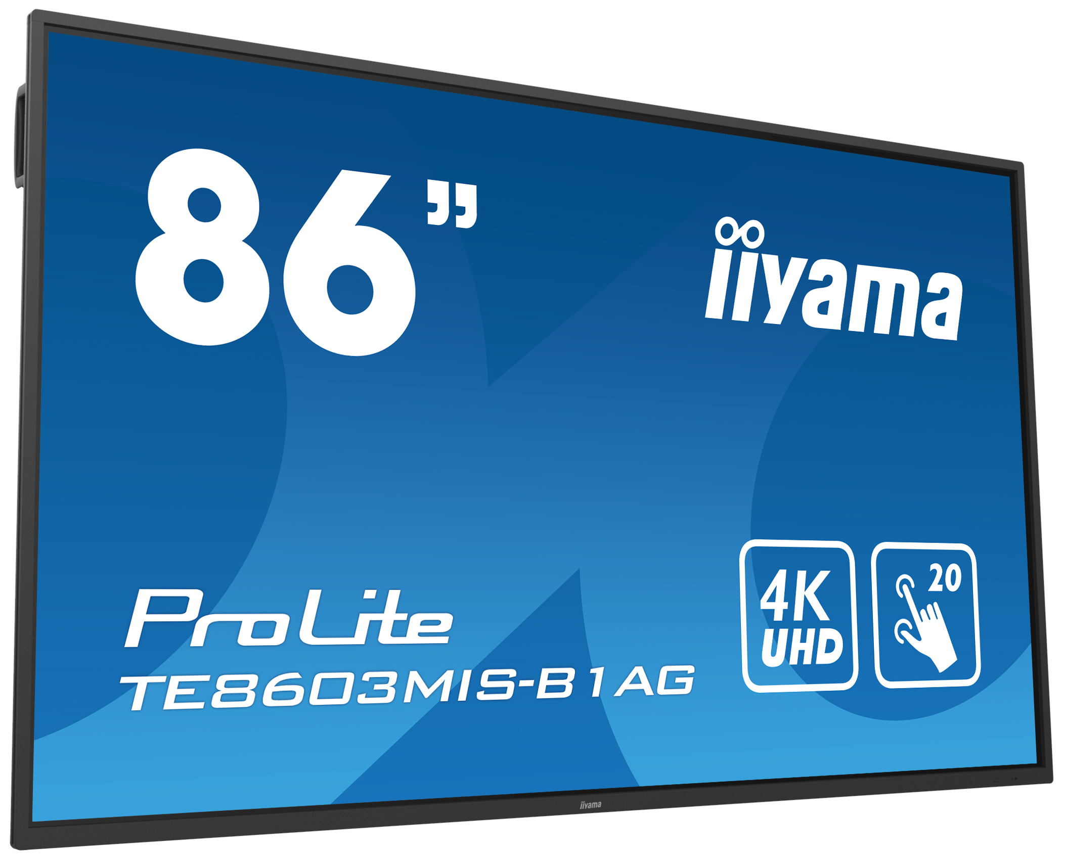 Iiyama Prolite Te8603mis B1ag 86 Interactive 4k Uhd Lcd Touchscreen With Integrated Annotation Software